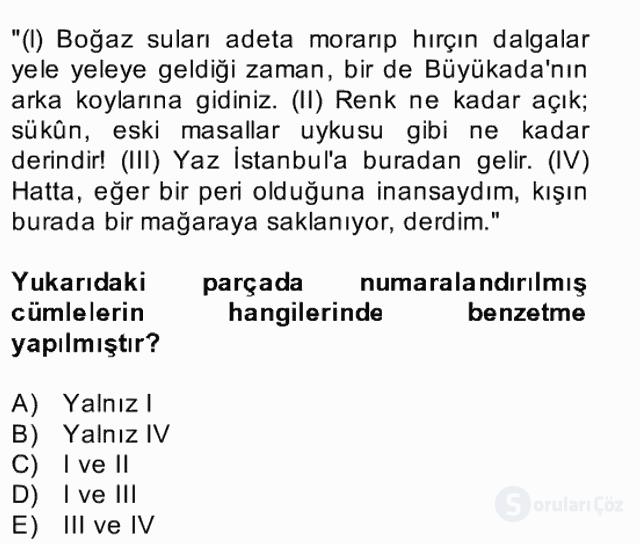 Türk Dili II Bahar Final 9. Soru