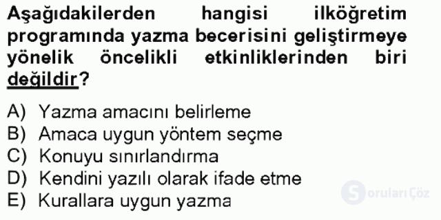 Türkçe Yazılı Anlatım Bahar Final 19. Soru