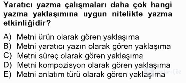 Türkçe Yazılı Anlatım Bahar Final 2. Soru