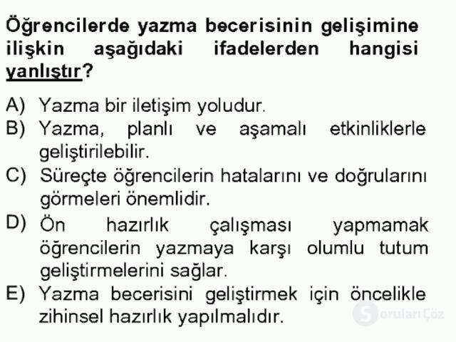 Türkçe Yazılı Anlatım Bahar Final 20. Soru