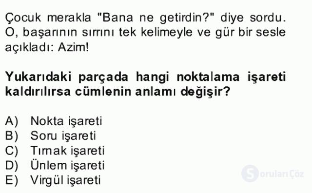 Türkçe Yazılı Anlatım Bahar Final 21. Soru