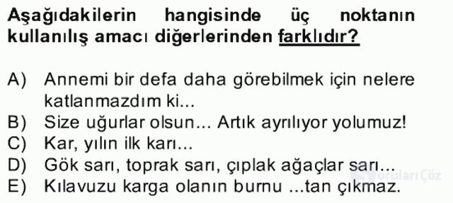 Türkçe Yazılı Anlatım Bahar Final 23. Soru