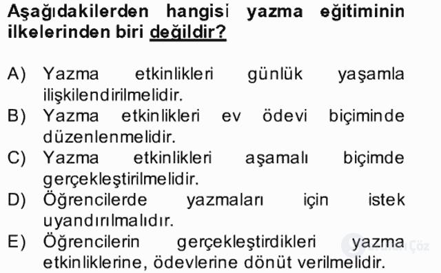 Türkçe Yazılı Anlatım Bahar Final 28. Soru
