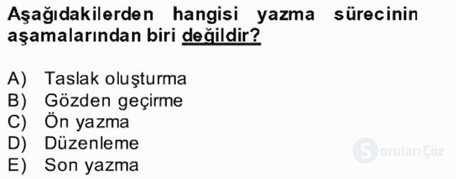 Türkçe Yazılı Anlatım Bahar Final 29. Soru