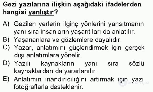 Türkçe Yazılı Anlatım Bahar Final 4. Soru