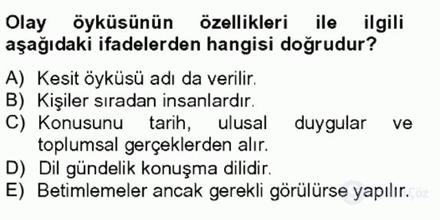 Türkçe Yazılı Anlatım Bahar Final 6. Soru