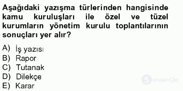 Türkçe Yazılı Anlatım Bahar Final 7. Soru