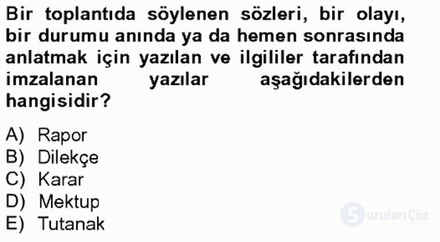 Türkçe Yazılı Anlatım Bahar Final 8. Soru