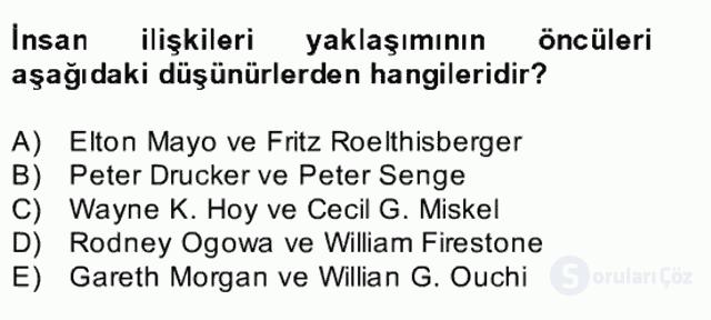 Türk Eğitim Sistemi ve Okul Yönetimi Bahar Final 17. Soru