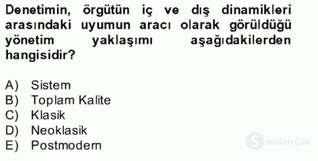 Türk Eğitim Sistemi ve Okul Yönetimi Bahar Final 30. Soru