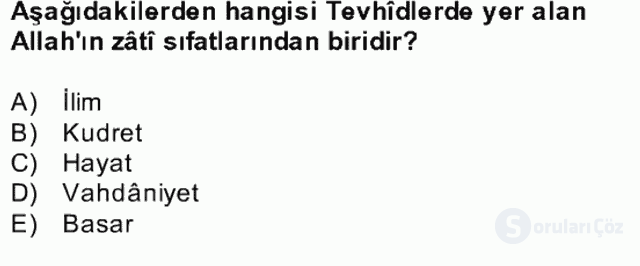 Türk İslâm Edebiyatı Bahar Final 13. Soru