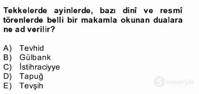 Türk İslâm Edebiyatı Bahar Final 23. Soru