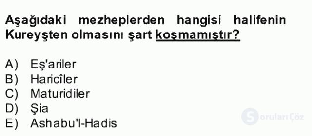 Kelâm'a Giriş Bahar Final 6. Soru