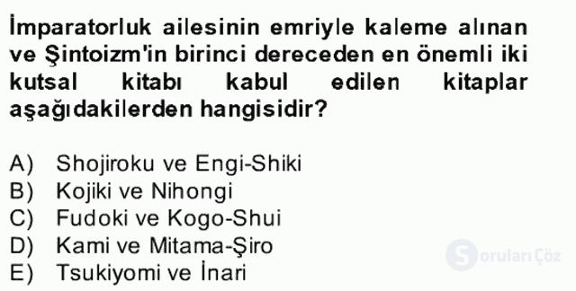 Yaşayan Dünya Dinleri Bahar Final 6. Soru