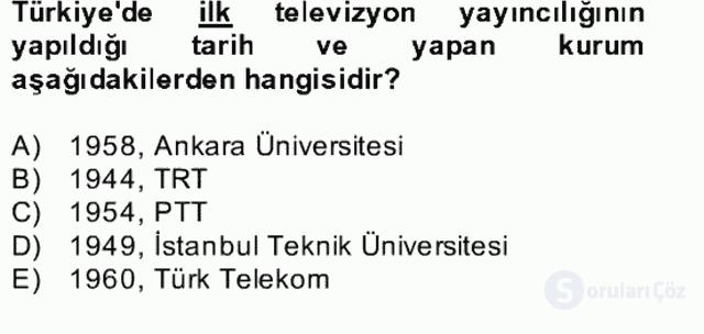 Yeni İletişim Teknolojileri Bahar Final 8. Soru