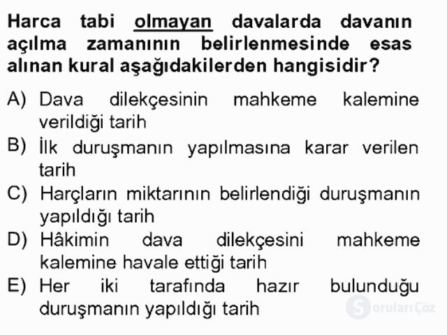 Damga Vergisi ve Harçlar Bilgisi Bahar Final 17. Soru