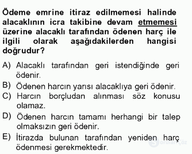 Damga Vergisi ve Harçlar Bilgisi Bahar Final 6. Soru
