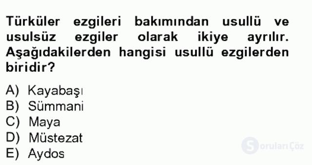 Halk Edebiyatına Giriş II Bahar Final 2. Soru