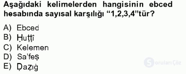 Eski Türk Edebiyatına Giriş: Söz Sanatları Bahar Final 1. Soru