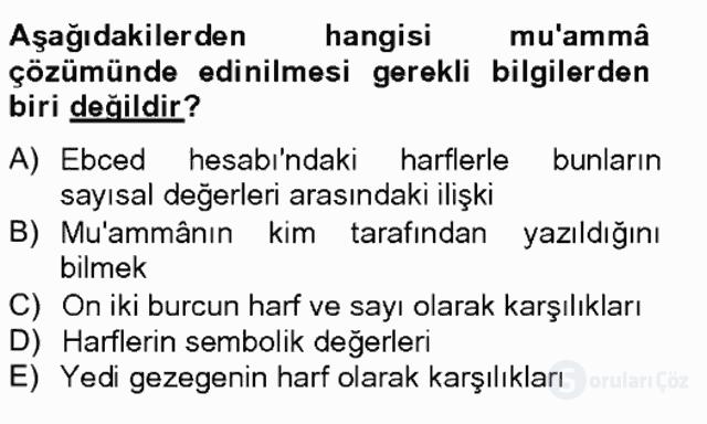 Eski Türk Edebiyatına Giriş: Söz Sanatları Bahar Final 5. Soru