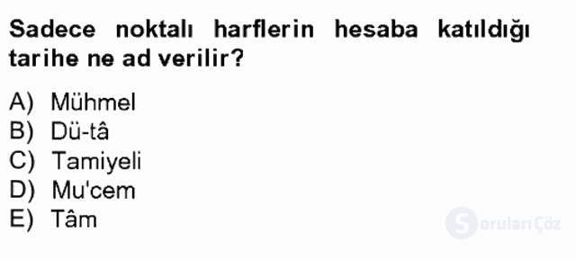 Eski Türk Edebiyatına Giriş: Söz Sanatları Bahar Final 9. Soru