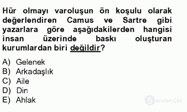 Batı Edebiyatında Akımlar II Bahar Final 11. Soru