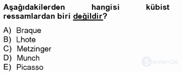 Batı Edebiyatında Akımlar II Bahar Final 4. Soru