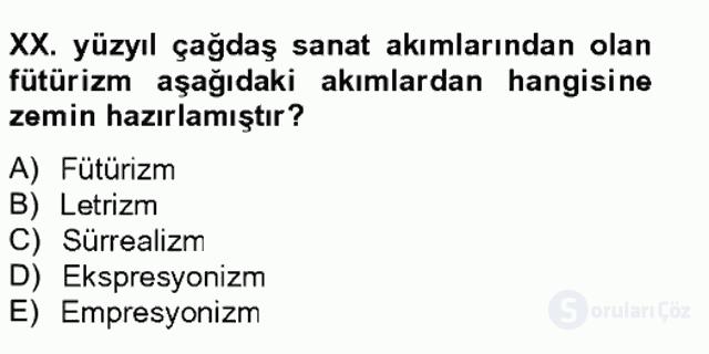 Batı Edebiyatında Akımlar II Bahar Final 5. Soru