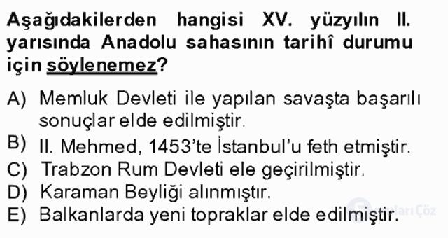 XIV-XV. Yüzyıllar Türk Edebiyatı Bahar Final 19. Soru