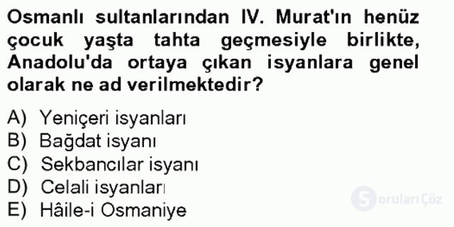XVII. Yüzyıl Türk Edebiyatı Bahar Final 9. Soru