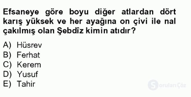 Türk Edebiyatının Mitolojik Kaynakları Bahar Final 10. Soru