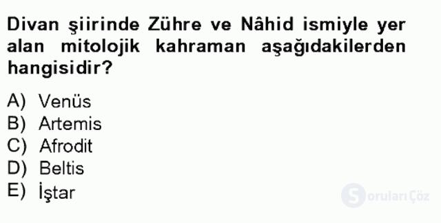 Türk Edebiyatının Mitolojik Kaynakları Bahar Final 11. Soru