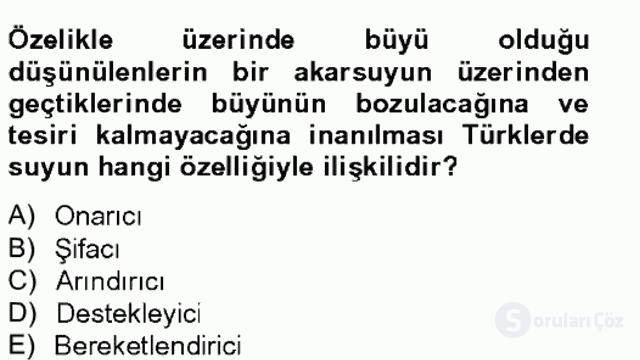 Türk Edebiyatının Mitolojik Kaynakları Bahar Final 4. Soru