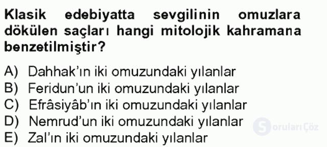 Türk Edebiyatının Mitolojik Kaynakları Bahar Final 6. Soru