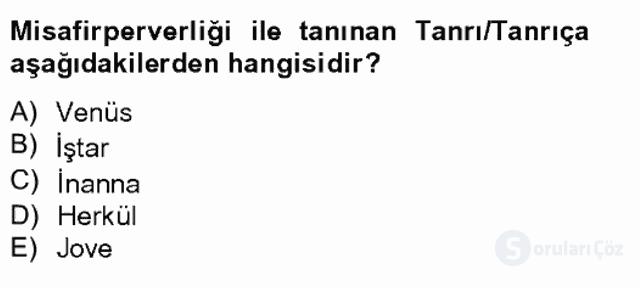 Türk Edebiyatının Mitolojik Kaynakları Bahar Final 9. Soru