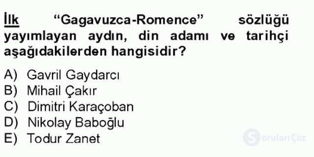 Çağdaş Türk Edebiyatları II Bahar Final 12. Soru