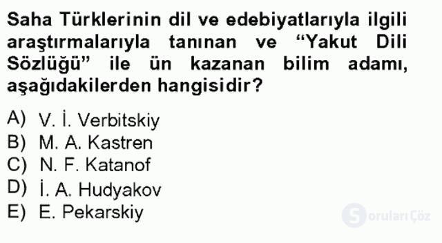 Çağdaş Türk Edebiyatları II Bahar Final 17. Soru