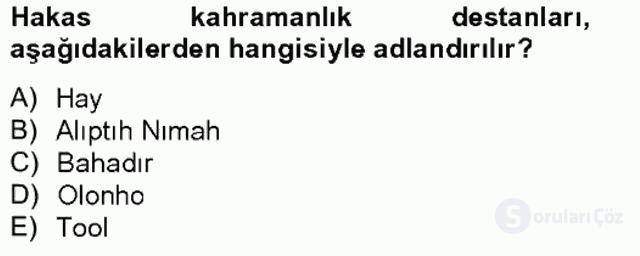 Çağdaş Türk Edebiyatları II Bahar Final 18. Soru