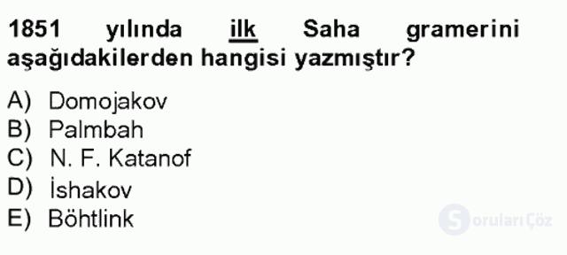 Çağdaş Türk Edebiyatları II Bahar Final 19. Soru