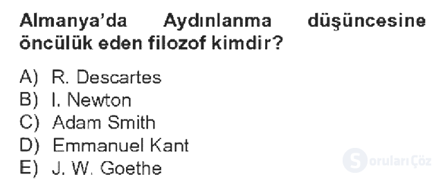 Kültür Tarihi Bahar Dönemi Final Final 10. Soru