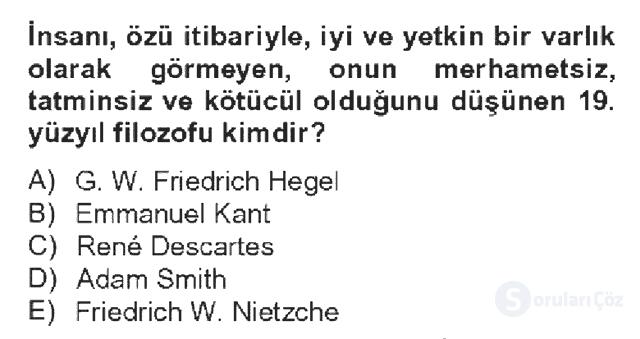 Kültür Tarihi Bahar Dönemi Final Final 14. Soru