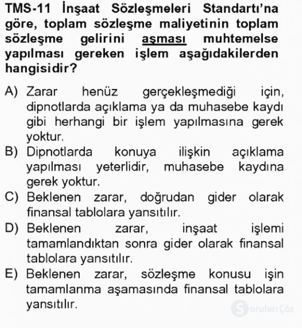 Gayrimenkul Yönetiminde Mesleki Etik Bahar Final 12. Soru