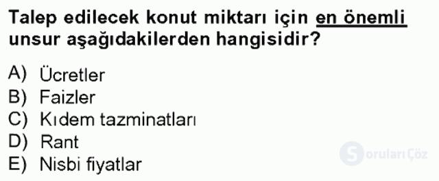 Gayrimenkul Yönetiminde Mesleki Etik Bahar Final 4. Soru