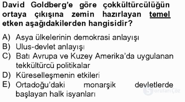 Siyaset Felsefesi II Bahar Final 10. Soru