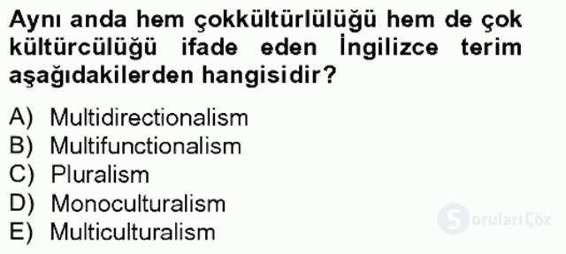 Siyaset Felsefesi II Bahar Final 12. Soru