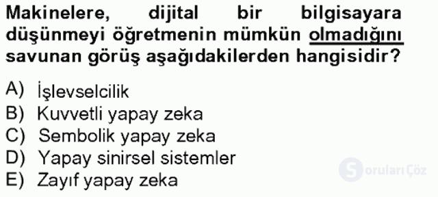 Zihin Felsefesi Bahar Final 9. Soru