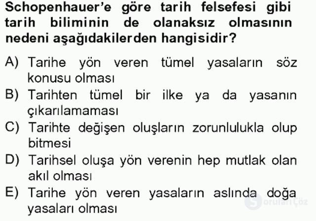 Tarih Felsefesi II Bahar Final 11. Soru