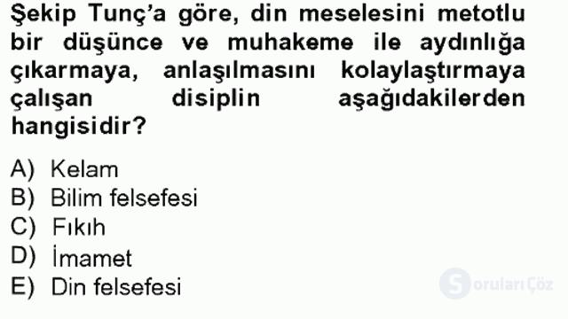 Türkiye'de Felsefenin Gelişimi II Bahar Final 1. Soru