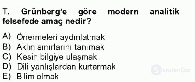 Türkiye'de Felsefenin Gelişimi II Bahar Final 10. Soru