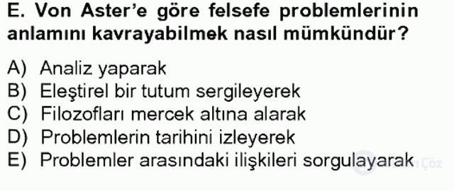 Türkiye'de Felsefenin Gelişimi II Bahar Final 11. Soru